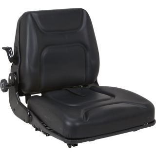 K & M Uni Pro Mechanical Suspension Tractor Seat   Black, Model 7890