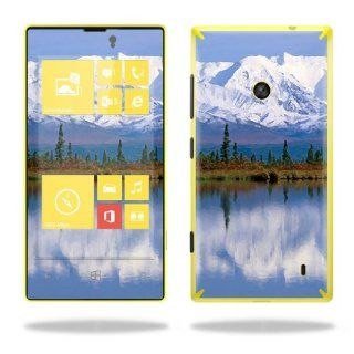 Protective Vinyl Skin Decal Cover for Nokia Lumia 520 Cell Phone T Mobile Sticker Skins Mountains Cell Phones & Accessories