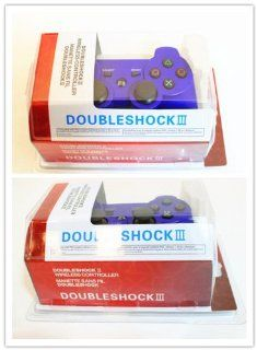 HPP Inc. 2 X Double Shock 6 Axis Wireless Bluetooth Sony PS3 Game Controller   BLUE Toys & Games