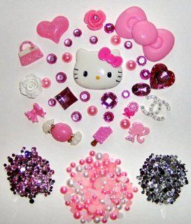 DIY Hello Kitty Bling Bling Cell Phone Case Resin Flatback Deco Kit / Set    lovekitty  Other Products