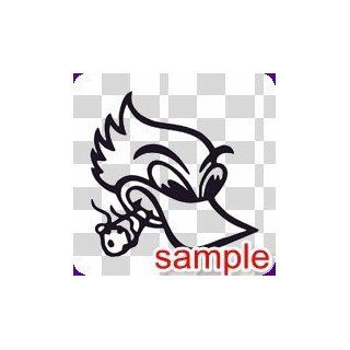 "BIRD ""DUCK SMOKING"" WHITE VINYL DECAL STICKER  Automobiles"