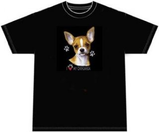 I Love My Chihuahua Dog T shirt Tee Shirt Clothing