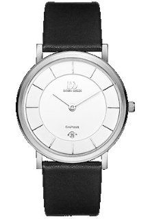 Danish Design IQ12Q898 Stainless Steel Case White Dial Leather Band Mens Watch Watches