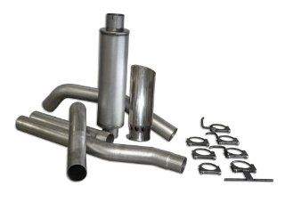 "Bully Dog 81444 4"" Single Stainless Steel Cat Back Exhaust System Automotive"