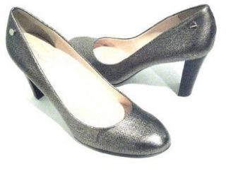 Calvin Klein Olive Womens Size 6 Bronze Leather Pumps Heels Shoes Shoes