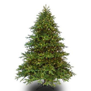 9 ft. x 74 in.   Wide Alaskan Deluxe Fir   6774 Realistic Molded Tips   1205 Clear Mini Lights   Barcana Artificial Christmas Tree