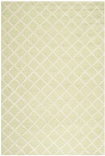 Safavieh CAM135B Cambridge Collection Handmade Wool Area Rug, 6 by 9 Feet, Light Green and Ivory