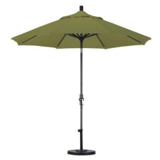 California Umbrella 9 ft. Aluminum Collar Tilt Patio Umbrella in Kiwi Olefin GSCU908302 F55