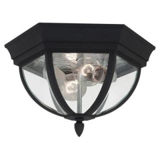 Sea Gull Lighting Bakersville 2 Light Outdoor Black Ceiling Fixture 78136 12