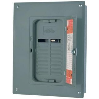 Square D by Schneider Electric QO 125 Amp 20 Space 20 Circuit Indoor Main Lug Load Center with Cover and Ground Bar QO120L125GC