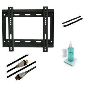 Atlantic Low Profile Fixed Steel Wall Mount Kit for 10 in. to 37 in. Flat Panel TVs   Black 63607105