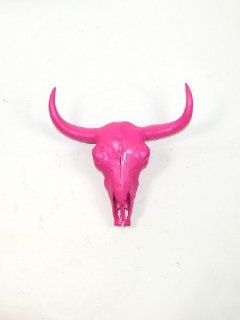 The Madison  Pink Resin Buffalo/bison Skull Head  Pink Buffalo Skull Wall Decor  Stag Head Wall Mount  Faux Taxidermy  Animal Skull  Wall Hanging Sculpture  Animal Mounts  Trophy Taxidermy