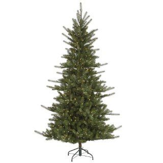 7.5' Slim Colorado Spruce Artificial Christmas Tree   Warm White LED Lights