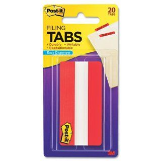 Post it�   Durable Tabs, Red, 3 x 1 1/2, 20/PK   Sold As 1 Pack   Secure, striped, self stick tabs offer quick and easy tabbing and indexing.