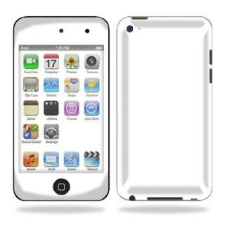 Protective Vinyl Skin Decal Cover for iPod Touch 4G 4th Generation Sticker Skins   Glossy White  Electronics