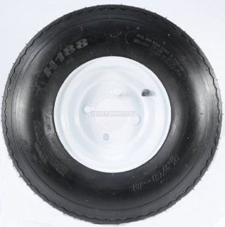 "TWO TRAILER TIRES & RIMS 5.70 8 570 8 5.70 X 8 8"" B 4 LUG HOLE BOLT WHEEL WHITE Automotive"