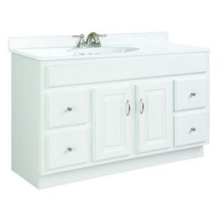 Design House Concord 48 in. W x 18 in. D Vanity Cabinet Only Unassembled in White Gloss 531301