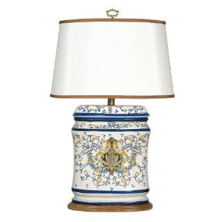 Mario Lamps 07T575 Tuscany Table Lamp, White, Yellow, Blue, Gray