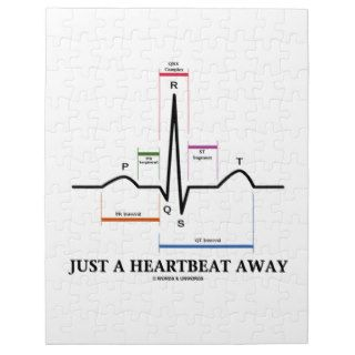 Just A Heartbeat Away (EKG/ECG Humor) Jigsaw Puzzle