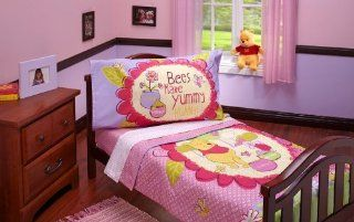 Winnie the Pooh Toddler Bedding 4 Piece Set, Yummy Hunny Pink Gift, Baby, NewBorn, Child  Baby Gift Baskets  Baby