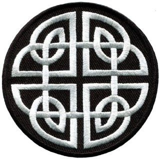 Celtic Knot Irish Goth Biker Tattoo Wicca Magic Applique Iron on Patch New S 599 Handmade Design From Thailand
