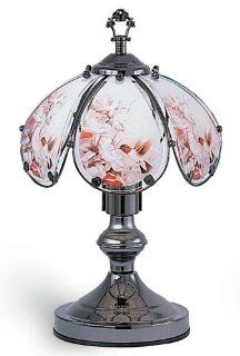 "NEW Humming Bird Floral 6 Panel 14"" Accent Touch Lamp 603C HC5"