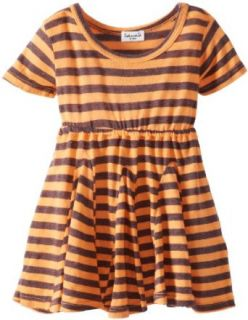 Splendid Littles Baby Girls Newborn French Stripe Dress, Apricot, 6 12 Months Clothing