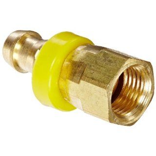 "EATON Weatherhead 10006B 606 Female Swivel Hose Fitting, SAE 37 Degree, CA360 Brass, NULL, 3/8"" Tube Size Hydraulic Hose Fittings"