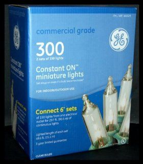 GE Commercial Grade 300 Constant ON Mini Lights for Indoor/Outdoor Use  Rope Lights
