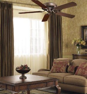 "Sundowner Oil Rubbed Bronze Indoor or Outdoor 54"" Energy Star Ceiling Fan with Dark Maple Blades F589 ORB"