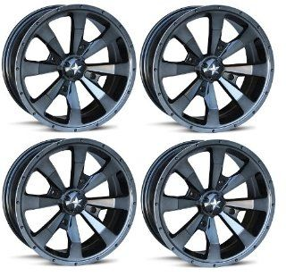 "MSA M22 Enduro ATV Wheel/Rims Dark Tint 16"" Polaris Sportsman XP 550 850 (4) Automotive"