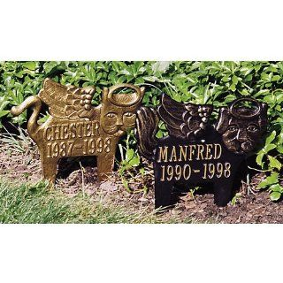 Angel Dog Memorial Marker Finish Antique Copper  Pet Memorial Products