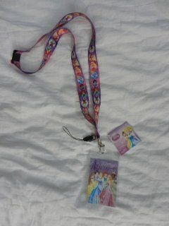 Princess Pink Disney Lanyard with Key Chain Clip & ID Card Holder Automotive