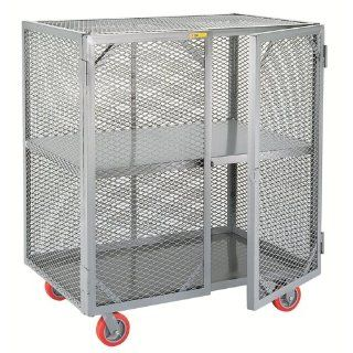 "Little Giant SC 3060 6PPY Welded Steel Visible Mobile Storage Locker with Fixed Center Shelf, 2000 lbs Load Capacity, 56"" Height x 30"" Width x 60"" Length"