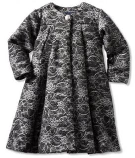 Pearl Baby girls Infant Lace Coat Dress, Black, 18 Months Clothing