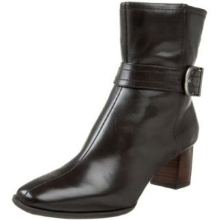 AK Anne Klein Women's Nairi Ankle Boot,Brown Leather,5 M US Shoes