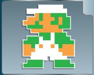 MINI LUIGI 8 bit from Super Mario Bros. vinyl decal sticker
