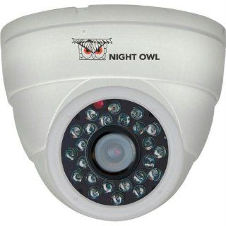Night Owl Security CAM DM624 W Hi Resolution 600 TVL Security Dome Camera with 50 Feet of Night Vision (White)  Home Security Systems  Camera & Photo