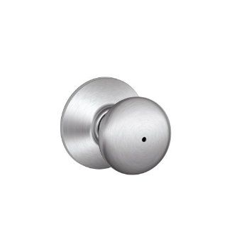 Schlage F40CS V PLY 626 Plymouth Light Commercial Privacy Knob, Satin Chrome   Doorknobs