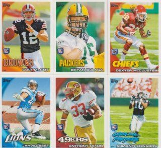 2010 Topps Football Rookies 6 Card Lot Jahvid Best #27,194,248,268,307,315 Sports Collectibles