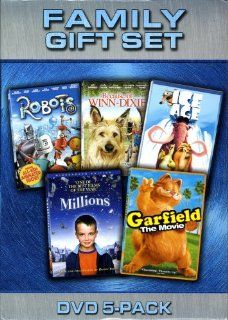 Family DVD 5 pack with Robots, Winn Dixie, Ice Age, Millions, and Garfield Movies & TV