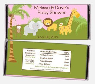 Safari Baby Shower Personalized Candy Bar Wrappers Health & Personal Care
