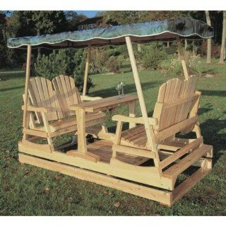Rustic Natural Cedar Furniture Deluxe Wooden Garden Glider  Patio Gliders  Patio, Lawn & Garden