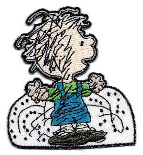 PIG PEN Pigpen playing in snow  Embroidered Peanuts Iron On / Sew On Patch Snoopy