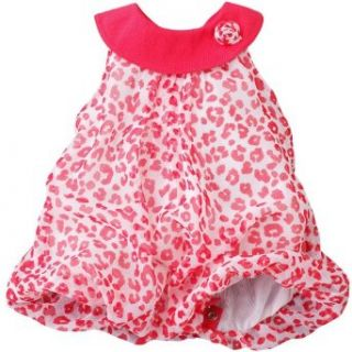 Little Lass Girls 12 24 Months Coral Animal Print Chiffon Creeper (12 Months, Coral) Infant And Toddler Dresses Clothing