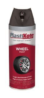 PlastiKote (620 6PK) Semi Gloss Black Wheel Paint   12 oz., (Pack of 6) Automotive
