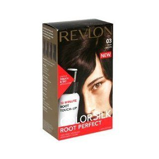 Revlon ColorSilk Root Perfect 10 Minute Root Touch Up HairColor, Dark Brown # 03   Kit  Chemical Hair Dyes  Beauty