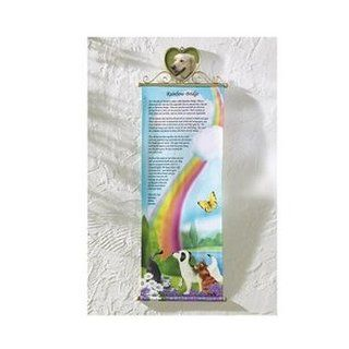 Rainbow Bridge Pet Memorial Wall Banner   Outdoor Decorative Stones