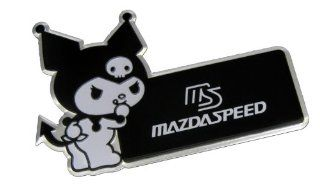 MAZDASPEED MS Mazda Kuromi Hello Kitty Black White Aluminum Emblem Badge Nameplate Logo Decal Rare JDM for Mazda Protege Miata MX5 MX6 RX7 RX8 Mazda 3 6 R3 626 CX7 CX9 M2 M3 M5 MPV Automotive