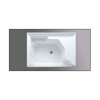 Americh A4836STSR WH 48 Inch x 36 Inch  Single Threshold w/ Right Hand Seat Shower Base   White Fin